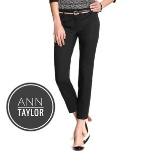 Ann Taylor Black Carnegie Cropped Pants